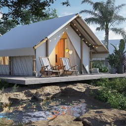 """44203 - רשת """"דן"""" יחד עם""""מדבריא"""", מקימים את""""גלמפינג"""", מתחם תיירות אלטרנטיבי, בחוף אילת."""