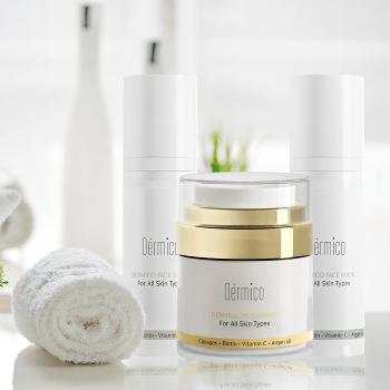 מוצרי טיפוח לפנים חברת דרמיקו אווירה. צילום יחצ 1 - מוצרי טיפוח חדשים, להרגעת וטיפוח העור, לקייץ 2021.